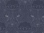Art Gallery Fabrics The Denim Studio Collection Stitched-ochi Chambray Denim Fabric  Blue