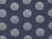 Art Gallery Fabrics The Denim Studio Collection Pointelle Rings Chambray Denim Fabric  Blue