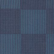 Art Gallery Fabrics The Denim Studio Collection Allover Bartacks Chambray Denim Fabric  Blue