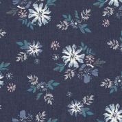 Art Gallery Fabrics The Denim Studio Collection Artic Avens Chambray Denim Fabric  Blue