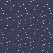 Art Gallery Fabrics The Denim Studio Collection Vice Versa Chambray Denim Fabric  Blue