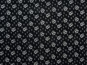 Floral Print Woven Viscose Dress Fabric  Black & White