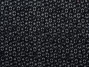 Abstract Print Woven Viscose Dress Fabric  Black & White