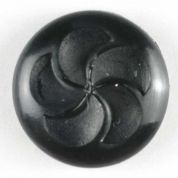 Dill Round Plastic Buttons  Black