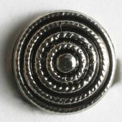 Dill Round Plastic Buttons  Silver