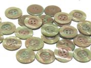 Dill Round Mother of Pearl Effect Plastic Buttons