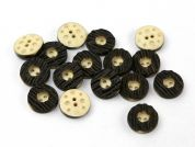 Dill Wood Effect Round Buttons  Brown
