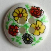 Dill Round Flower Buttons  Multicoloured