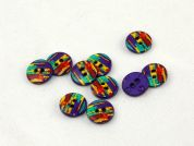 Dill Patterned Round Buttons  Purple