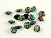 Dill Floral Patterned Round Shank Buttons