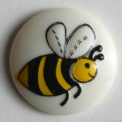 Dill Round Bee Buttons  Yellow