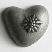 Dill Metal Heart Buttons