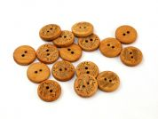 Dill Round Inlaid Wood Buttons