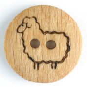 Dill Sheep Wood Buttons  Beige