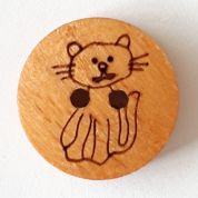 Dill Wood Cat Buttons