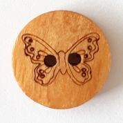 Dill Wood Butterfly Buttons
