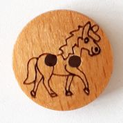 Dill Wood Horse Buttons