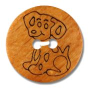 Dill Dalmation Wood Buttons