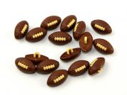 Dill American Football Shape Novelty Buttons  Brown