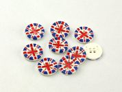 Dill Round Union Jack Buttons