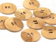 Dill Engraved Round 2 Hole Wooden Buttons
