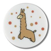 Dill Round Llama Buttons