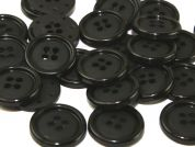Dill Round Rimmed Plastic 4 Hole Buttons