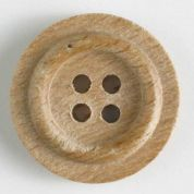 Dill Round Wood Buttons  Beige