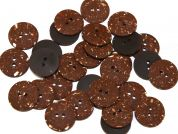 Dill Round Matte Textured Plastic Buttons