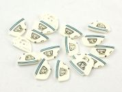 Dill Sewing Iron Shape Buttons  Cream/Blue