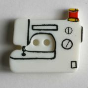 Dill Sewing Machine Buttons  White