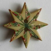 Dill Christmas Star Buttons  Gold