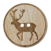 Dill Reindeer Wood Buttons