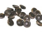 Dill Round Plastic Shank Buttons  Brown