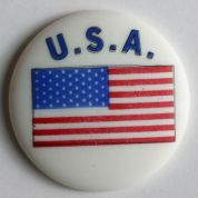 Dill American Flag Buttons  Blue/White/Red