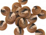 Dill Round Matte Marble Texture Plastic Buttons