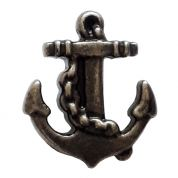 Dill Metal Anchor Buttons  Antique Silver