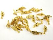 Dill Musical Instrument Trumpet Buttons  Gold