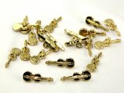 Dill Musical Instrument Violin Buttons  Gold