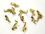 Dill Musical Instrument Saxophone Buttons  Gold
