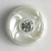 Dill Round Diamante Buttons  Ivory