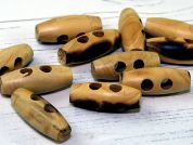 Dill 2 Hole Wooden Toggle Buttons