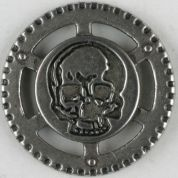 Dill Metal Skull Buttons