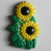 Dill Sunflower Buttons  Yellow & Green