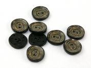 Dill Tree Bark Swirl Patterned Buttons