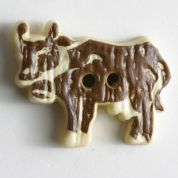 Dill Cow Plastic Buttons  Brown