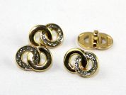 Dill Wedding Ring Shape Novelty Buttons  Gold & Silver
