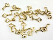 Dill Metal Key Shape Charms  Gold