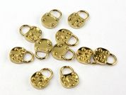 Dill Metal Padlock Shape Charms  Gold