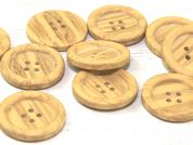 Dill Round 4 Hole Wood Effect Plastic Buttons